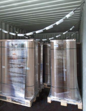 Bandejas colgantes desecantes para contenedor marítimo