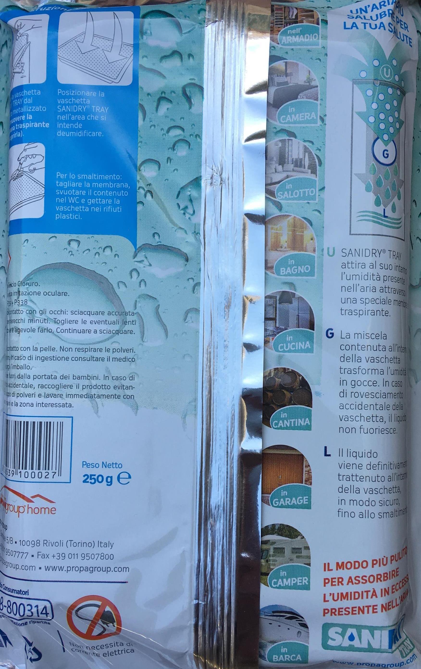 Déshydratant d'Humidité pour la maison, barquette Sanidry